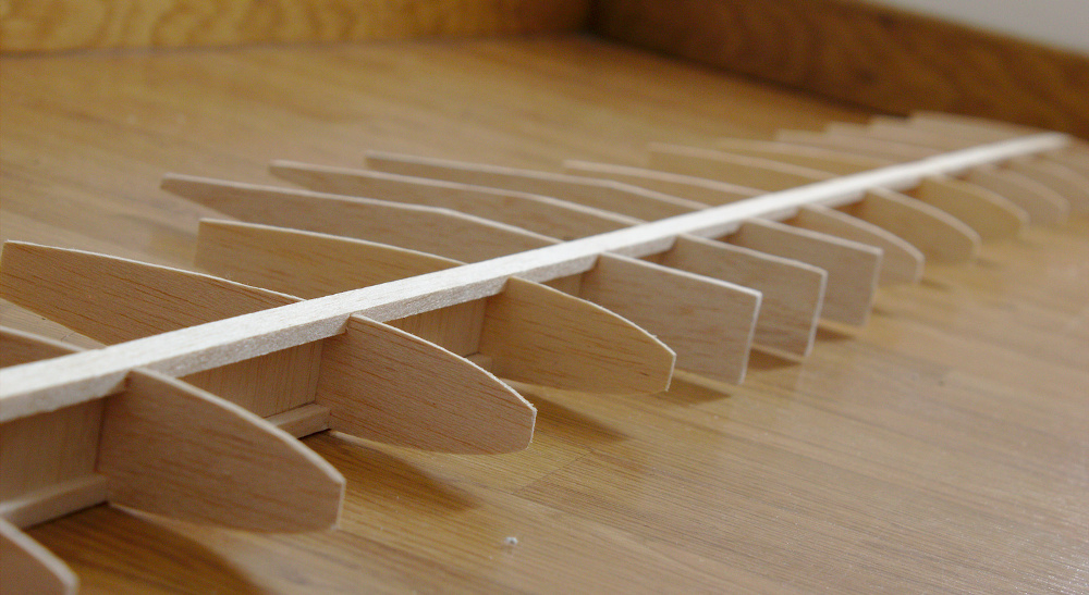 balsa wood wing structure